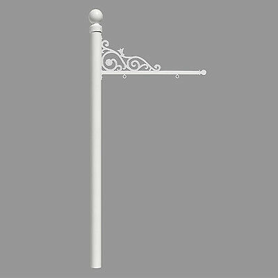 QualArc REPST-004-WHT Qual Arc Prestige Real Estate Sign System with Ball Finial