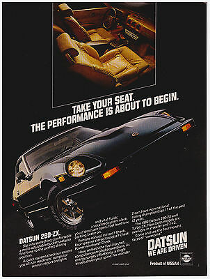 Original 1982 Datsun 280-ZX from Nissan Ad Vintage Print Ad