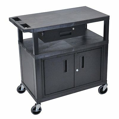 Luxor EA34CD-B EA-Series Presentation Station with Cabinet & Drawer