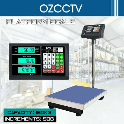 150kg Electronic Scale Weight Computing Digital Platform Scales Postal Shop AU