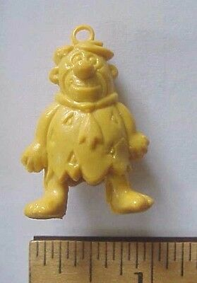 Hanna Barbera Pencil Top Eraser Yellow Fred Flintstone Hong Kong 1970's NOS