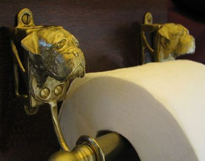 BULLMASTIFF Bronze Toilet Paper Holder OR Paper Towel Holder!