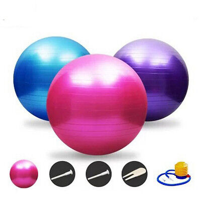 65cm Balance Stability Pilates Ball for Yoga Fitness Exercise With Air Pump