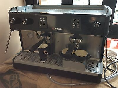 Demo Two Group High Cup Promac Commercial Coffee Espresso Machine