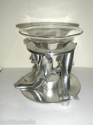 Aromatherapy Defuser - Dancing Dolphins - Aluminum