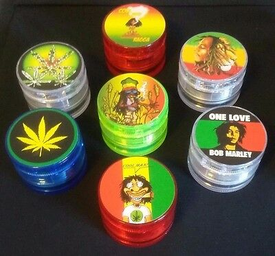"""Random 2"""" Legal 4 Layer Herb Spice Grinder Buster Sharp Easy To Use With Screen"""