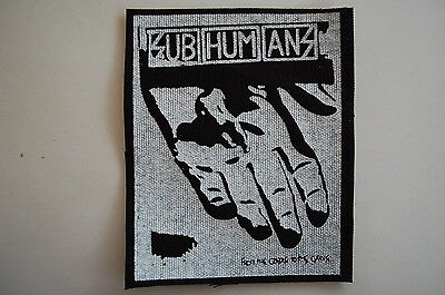 "Subhumans Cloth Patch Sew On Badge Adicts Punk Rock Music Approx. 6""X2.5"" (CP46)"