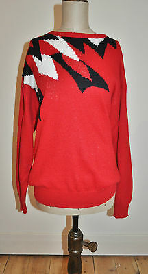Vintage 80's FUN-KNITZ Graphic Abstract Design Jumper