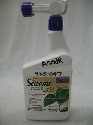 2 Pk Bonide All Seasons Spray Oil Horticultural & Dormant Insects Diseases 32 OZ