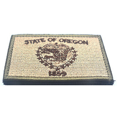 USA Oregon OR STATE FLAG U.S. ARMY MORALE BADGE TACTICAL PATCH