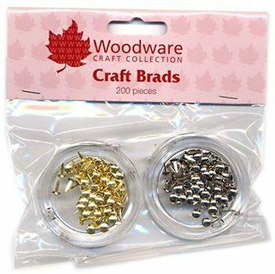Woodware MINI - ROUND BRADS 100 GOLD AND 100 SILVER FREE P&P