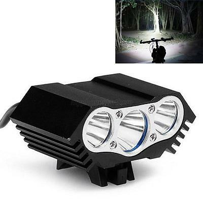 10000Lm 3 x CREE T6 LED Rechargeable Bicycle Lamp Light Headlight Cycling Torch