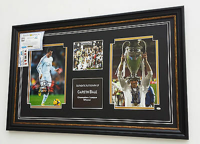 * NEW Gareth Bale of Real Madrid Signed Photo Picture CHAMPIONS LEAGUE WINNERS