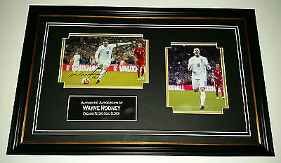 Wayne Rooney of Manchester United & ENGLAND Photo Picture AUTOGRAPH Display