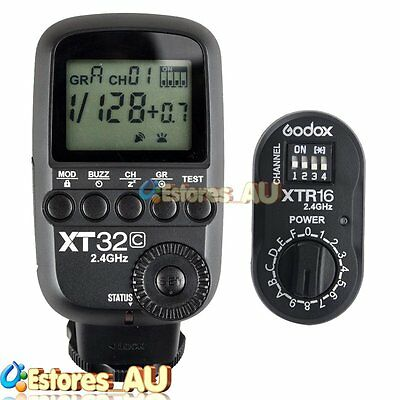 【AU】Godox XT32C 2.4G 1/8000s Wireless Flash Trigger + XTR-16 Receiver For Canon