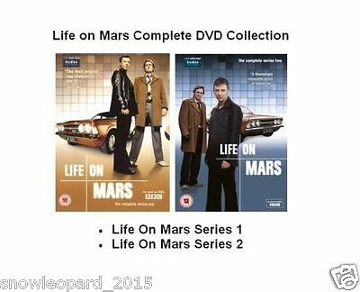 LIFE ON MARS COMPLETE SERIES 1 - 2 DVD COLLECTION Brand New and Sealed UK Releas