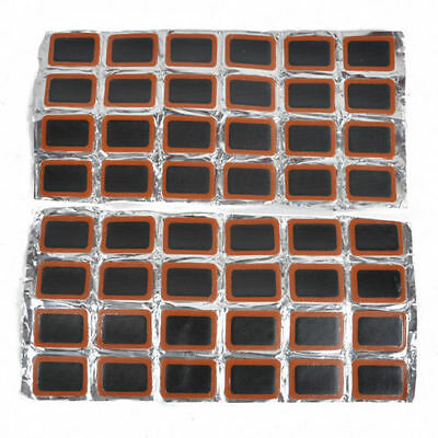 48Pcs Rubber Puncture Patches Bicycle Bike Tire Tyre Tube Repair Patch Kit Glue