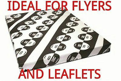 75 sheets A4 130gsm GLOSS DOUBLE SIDED PRINTER PAPER - LASER - DIGITAL - CRAFT