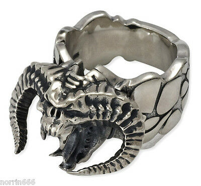 LORD OF THE RINGS BALROG Ring  `Antique´  Sterling Silver Official Product - S70