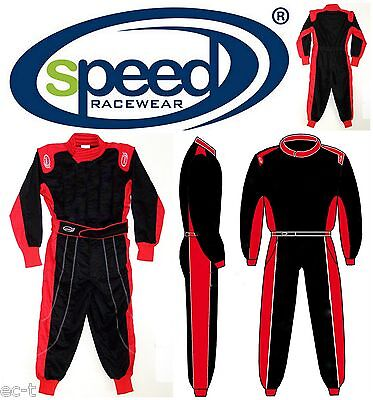 Speed Hobby Kartoverall - Overall - Exclusives Design in schwarz/rot - Quad -Top