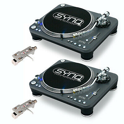 2x SYNQ X-TRM-1 Profi-Turntable + Audio Technica Systems Plattenspieler XTRM 1