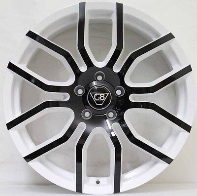 20 inch GENUINE G8 F- SERIES WHITE & BLACK  NEW RELEASE WITH NEW TYRES COMMODORE