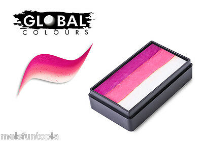Global Colours 30g Dublin Fun Stroke Rainbow Cake, Professional Face Paint Party