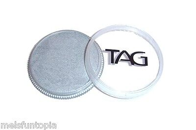 TAG Body Art 32g Pot Pearl Silver Professional Face and Body Paint - Metallic