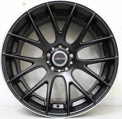 20 inch Genuine VERSUS EURO LACE BLACK WIDE PACK ALLOY WHEELS  WITH NEW TYRES