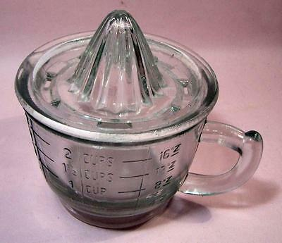Glass  CITRUS JUICER with Measuring Cup