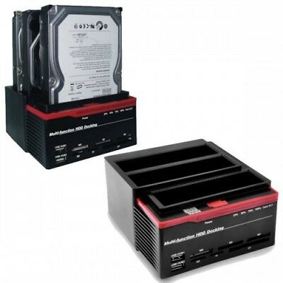 "HDD Docking Station USB2.0 Triplo Slot Per Hard Disk 2.5"" e 3.5"" (1x IDE - 2x SA"