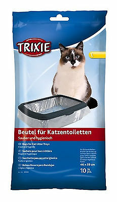Trixie Cat Litter Tray Bags 10pcs Large - Pack Of 6