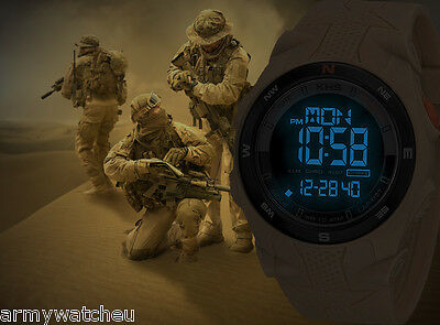 KHS Tactical Watches Sentinel Digital Compass Army Strap Alarm Chronograph Watch