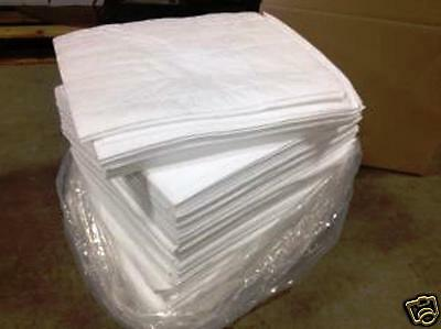 """Absorbent Pads Oil Only-200 Pads Per Case 15""""x18"""" White--condition  NEW OS2-SC"""
