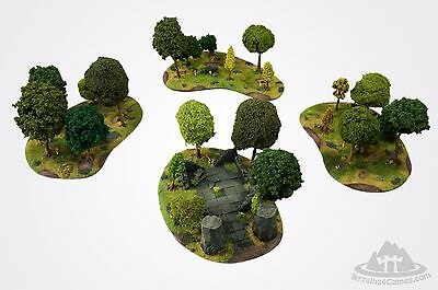 Wargame scenery MAGICAL FOREST SET- 24 trees - Warhammer Hobbit - 28mm painted