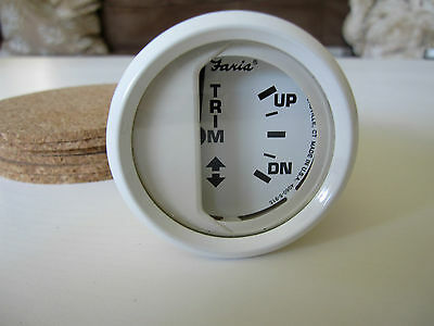 Faria GP7433 Dress White Yamaha Trim Boat Instrument Gauge! Marine Outboard