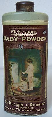 Very Pretty Mckesson's Baby Powder Advertising Tin Victorian Girls  Fireplace