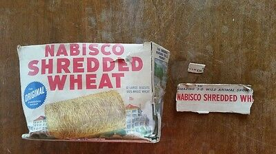 Vintage Nabisco Shredded Wheat 3-D Jungle Beasts Wild Animal Show Cereal Box