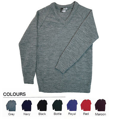 Boys & Girls V-Neck School Heavyweight Knitted Jumper Super Maestro Non-Bobble
