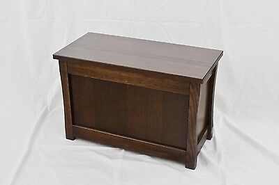 "Slipper chest. Mission style NEW! Red oak. 23"". CQ-2-75"