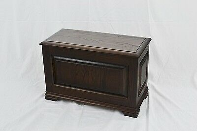 "Slipper chest. NEW! Red oak. 23"". CQ-2-75"