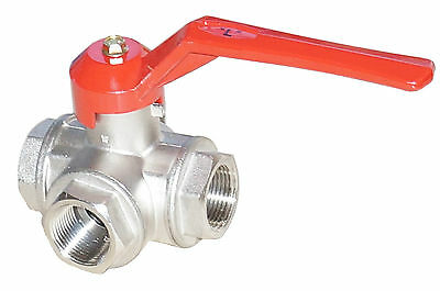 3-way ball valve L-bore PN40