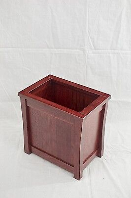 Wooden trash can. Mission style. Oak. NEW! TE-1366