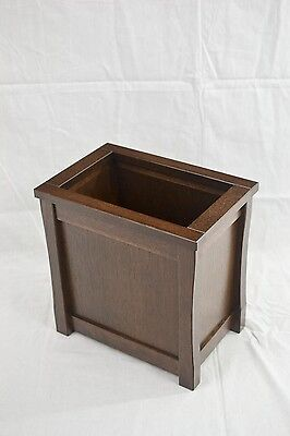 Wooden trash can. Mission style. Oak. NEW! CQ-2-75