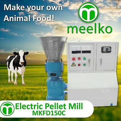 PELLET MILL 5.5kw 7,5HP ELECTRIC ENGINE READY TO SHIP IN USA WOOD OR ANIMAL FOOD