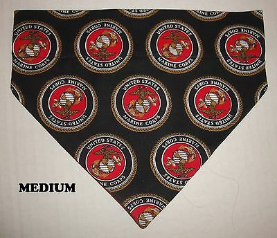 US Marine Corp Semper Fi USMC Over Collar Slide On Pet Dog Cat Bandana Scarf