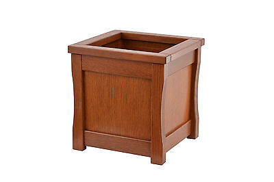 Medium wooden trash can. Mission style. Oak. NEW! TE-823