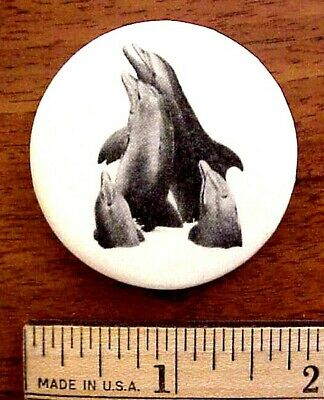 1978 General Whale Save The Whales Dolphins Porpoise Pinback Button