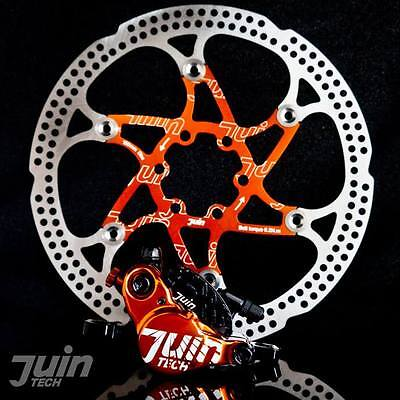 Juin Tech X1 Hydraulic Cable Pull Disc Brake Black/Orange - Road | Cyclocross (C