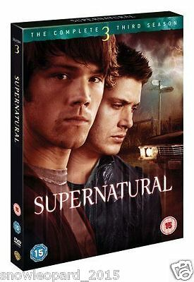 Supernatural Complete Series 3 DVD Season New Sealed UK Original R2 3rd Third